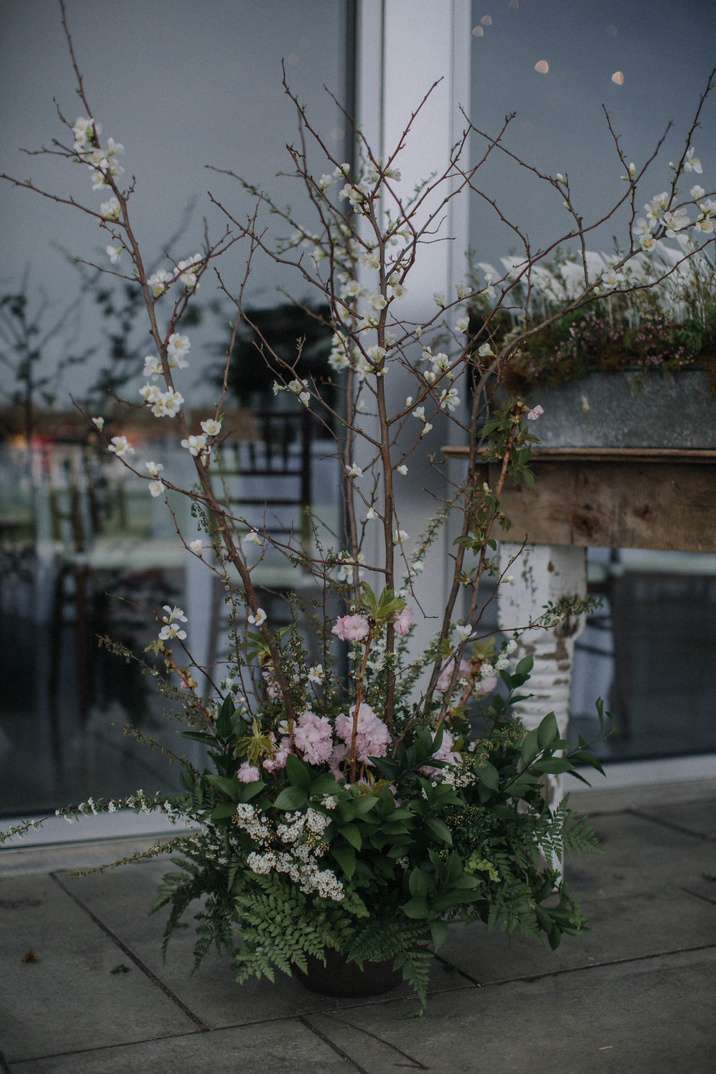 tall flower arrangement